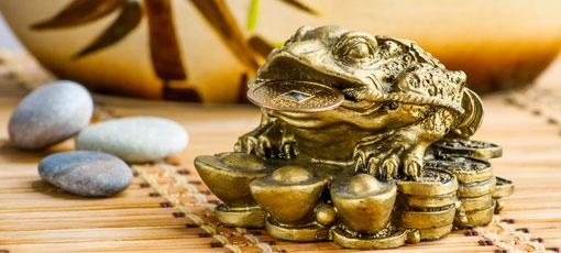 Feng-Shui Geldfrosch - Money Frog